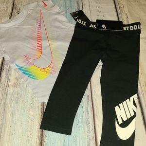 Nwt nike top leggings girls 2 2t new